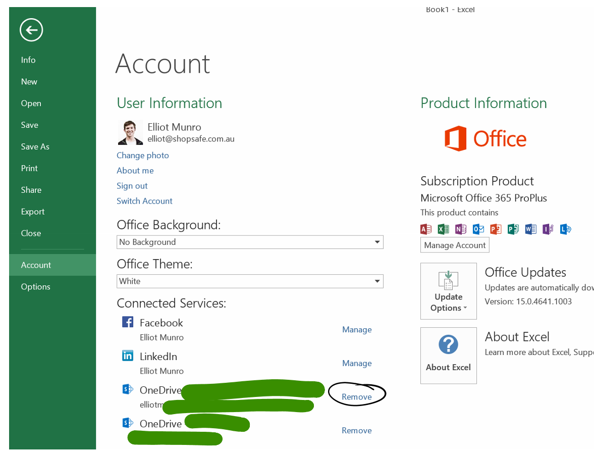 Remove extra services from Office 365